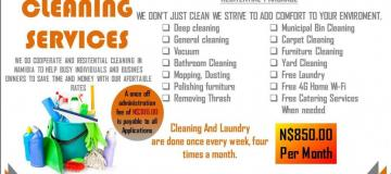 get your house and laundry done once a week for only 850.00per month 0814275094/081223290